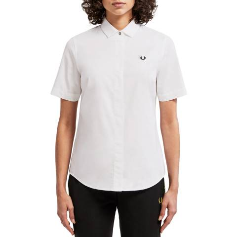 Fred Perry White Oxford Short Sleeve Shirt