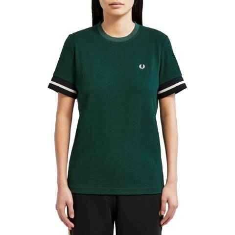 Fred Perry Green Bold Tipped T-Shirt