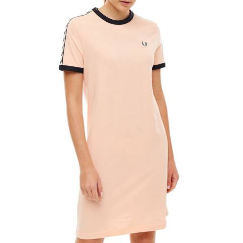 Fred Perry Pink Taped Ringer T-Shirt Dress