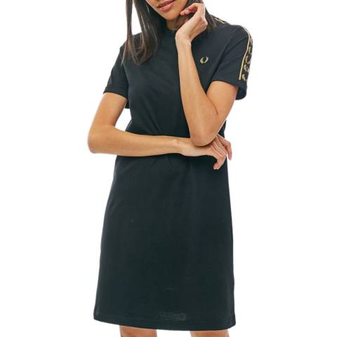 Fred Perry Navy Taped Ringer T-Shirt Dress
