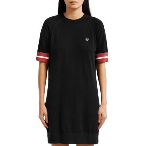 Fred Perry Navy Bold Tipped Knit Dress
