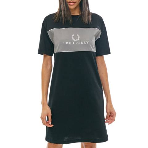 Fred Perry Navy Embroidered T-Shirt Dress