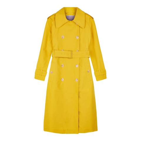 ALEXA CHUNG Yellow Long Trench Coat