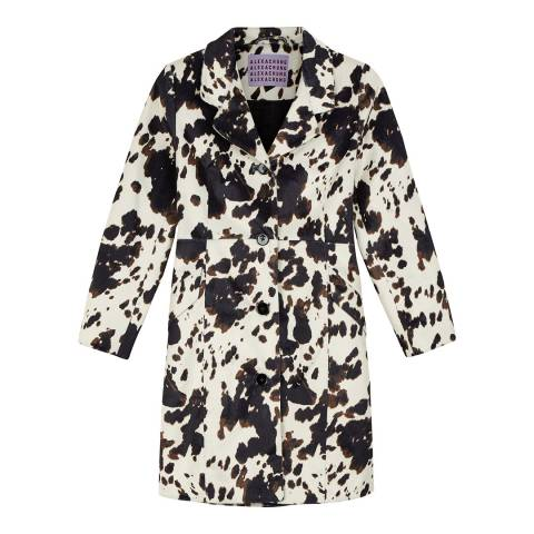 ALEXA CHUNG Black/White Seamed Waist Coat