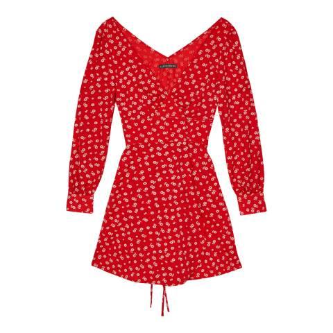 ALEXA CHUNG Red Double Tie Wrap Dress