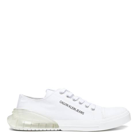 Calvin Klein Jeans White & Clear Munro Trainers