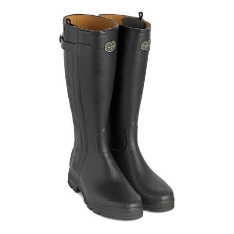 Le Chameau Women's Noir Chasseur Leather Lined Boots