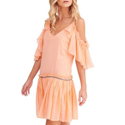 Pitusa Peach Camille Short Dress
