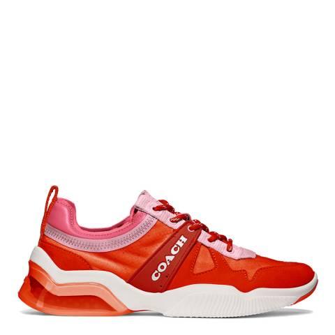 Coach Orchid Geranium Suede Nylon Runner Sneakers