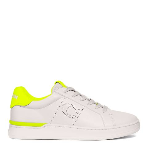 Coach Topchalk Neon Yellow Leather Low Top Sneakers