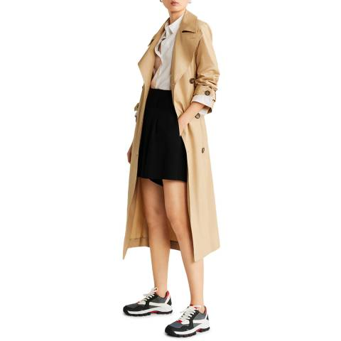 Mango Beige Classic Belted Trench