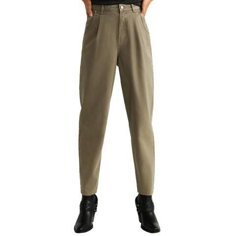 Mango Khaki Slouchy Regina Jeans