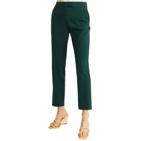 Mango Green Straight Suit Trousers