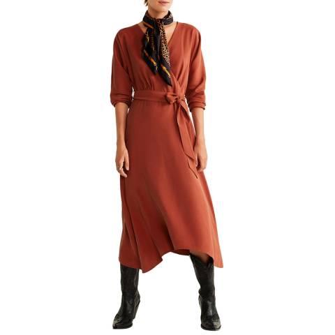 Mango Red Bow Wrap Dress
