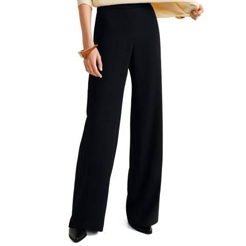 Mango Black Straight Long Pants