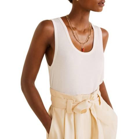Mango Cream Fine Knit Top