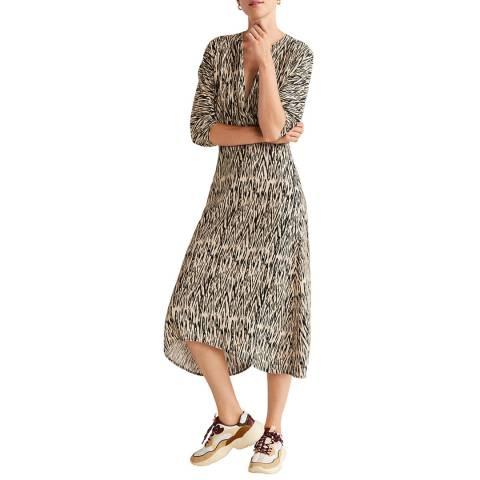 Mango Beige Animal Print Dress