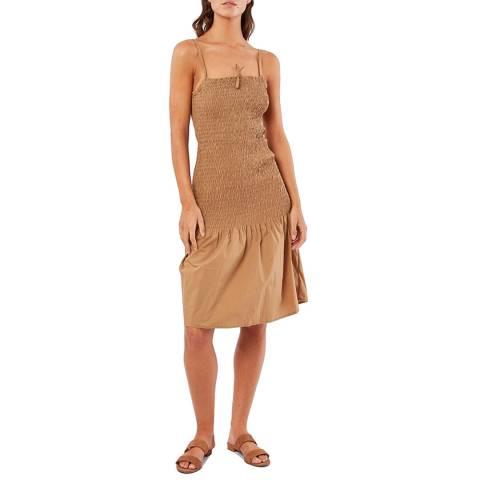 Solid & Striped Sand Smocked Poplin Dress