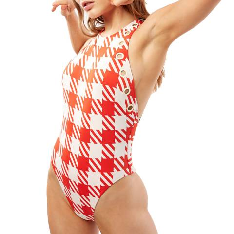 Solid & Striped Lipstick Gingham The Jackie Swimsuit