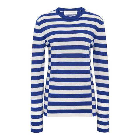 VICTORIA, VICTORIA BECKHAM Bright Blue/White Wool Sweater