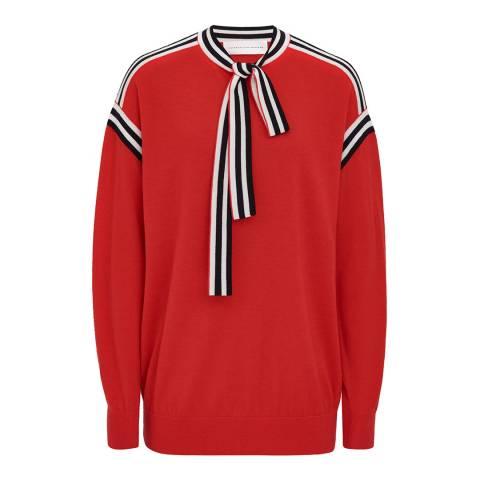 VICTORIA, VICTORIA BECKHAM Sunset Neck Tie Wool Sweater