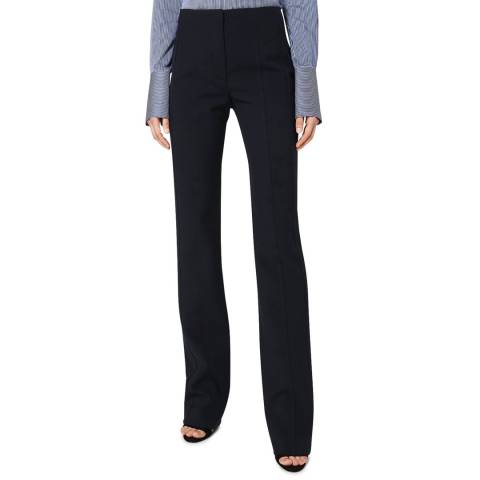 VICTORIA, VICTORIA BECKHAM Midnight Panelled Stretch Trouser