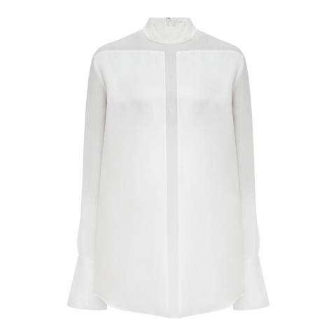 VICTORIA, VICTORIA BECKHAM White Sheer Panel Top