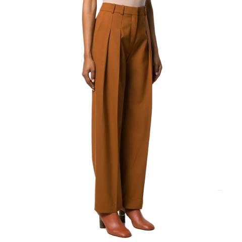 VICTORIA, VICTORIA BECKHAM Camel Two Pleat Trouser