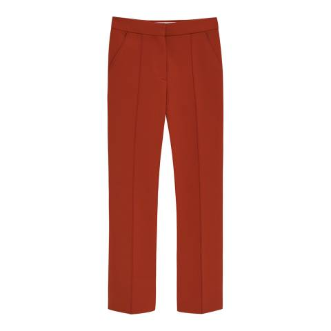 VICTORIA, VICTORIA BECKHAM Copper Two Pleat Trouser