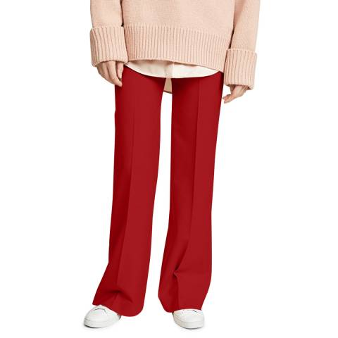 VICTORIA, VICTORIA BECKHAM Cherry Red Grandad Stretch Trouser