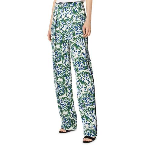 VICTORIA, VICTORIA BECKHAM Abstract Floral Pyjama Stretch Trouser