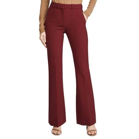 VICTORIA, VICTORIA BECKHAM Cherry Red Victoria Stretch Trouser