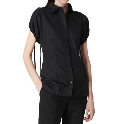 VICTORIA, VICTORIA BECKHAM Black Tie Sleeve Cotton Shirt