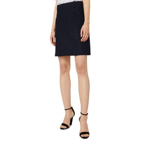 VICTORIA, VICTORIA BECKHAM Black Safari Skirt