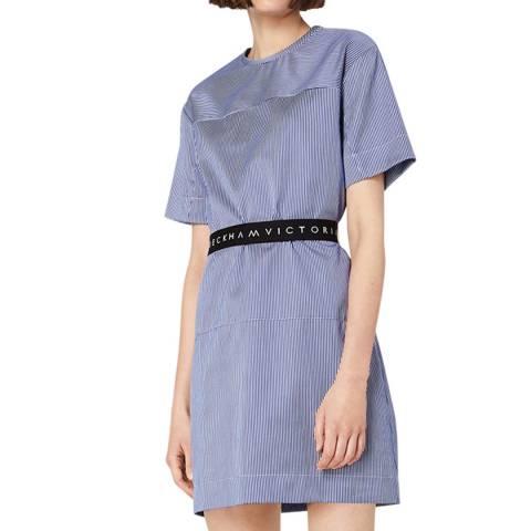 VICTORIA, VICTORIA BECKHAM Logo Belt Dress