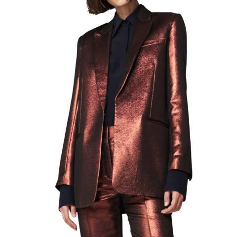 VICTORIA, VICTORIA BECKHAM Copper Slim Jacket