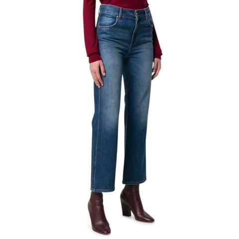VICTORIA, VICTORIA BECKHAM Moon Blue Cali Cotton Jeans