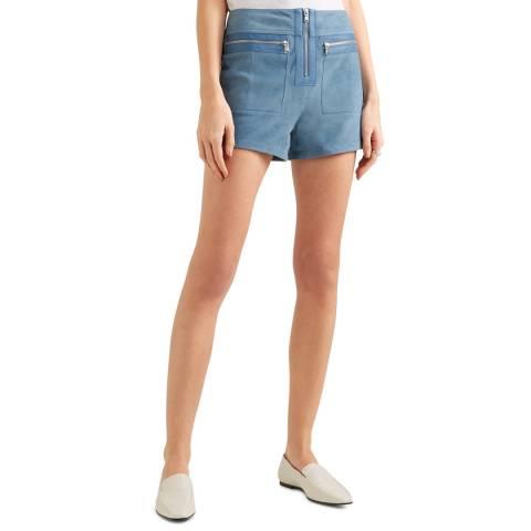 VICTORIA, VICTORIA BECKHAM Cornflower Zip Pocket Shorts