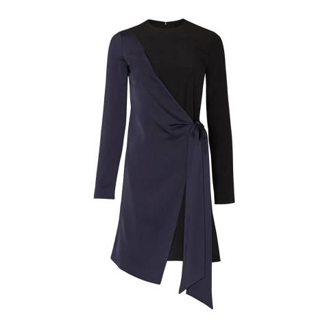 VICTORIA, VICTORIA BECKHAM Black/Midnight Wrap Panel Dress
