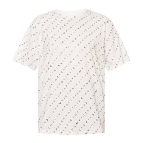 VICTORIA, VICTORIA BECKHAM White All Over Logo Cotton Tee
