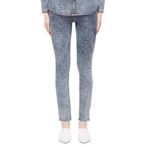 VICTORIA, VICTORIA BECKHAM Off Dusk Embroidered Slim Boyfriend Jeans