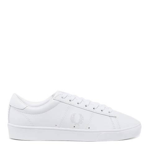 Fred Perry White Leather Spencer Sneakers