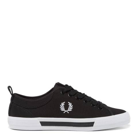 Fred Perry Black Horton Canvas Sneakers