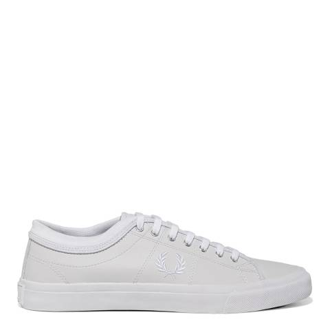 Fred Perry White Leather Kendrick Tipped Cuff Sneakers
