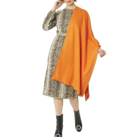 JayLey Collection Orange Cashmere/Silk Blend Pashmina
