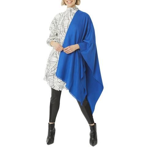 JayLey Collection Blue Cashmere/Silk Blend Pashmina