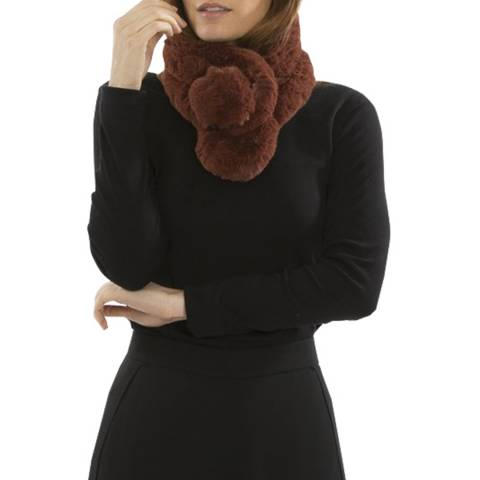 JayLey Collection Chocolate Faux Fur Stole