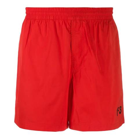 adidas Y-3 Red Swim Logo Short