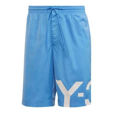 adidas Y-3 Blue Swim Large Logo Short