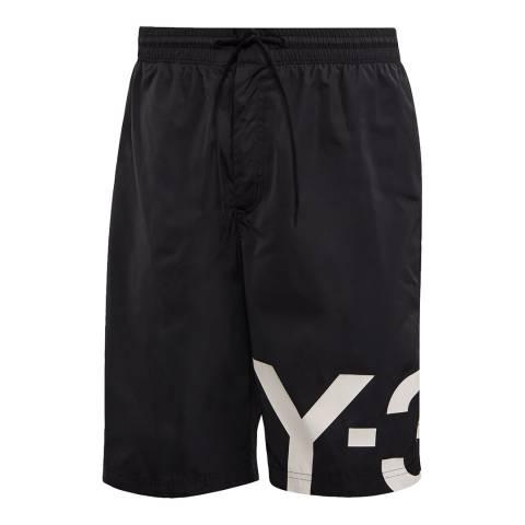 adidas Y-3 Black Swim Large Logo Short